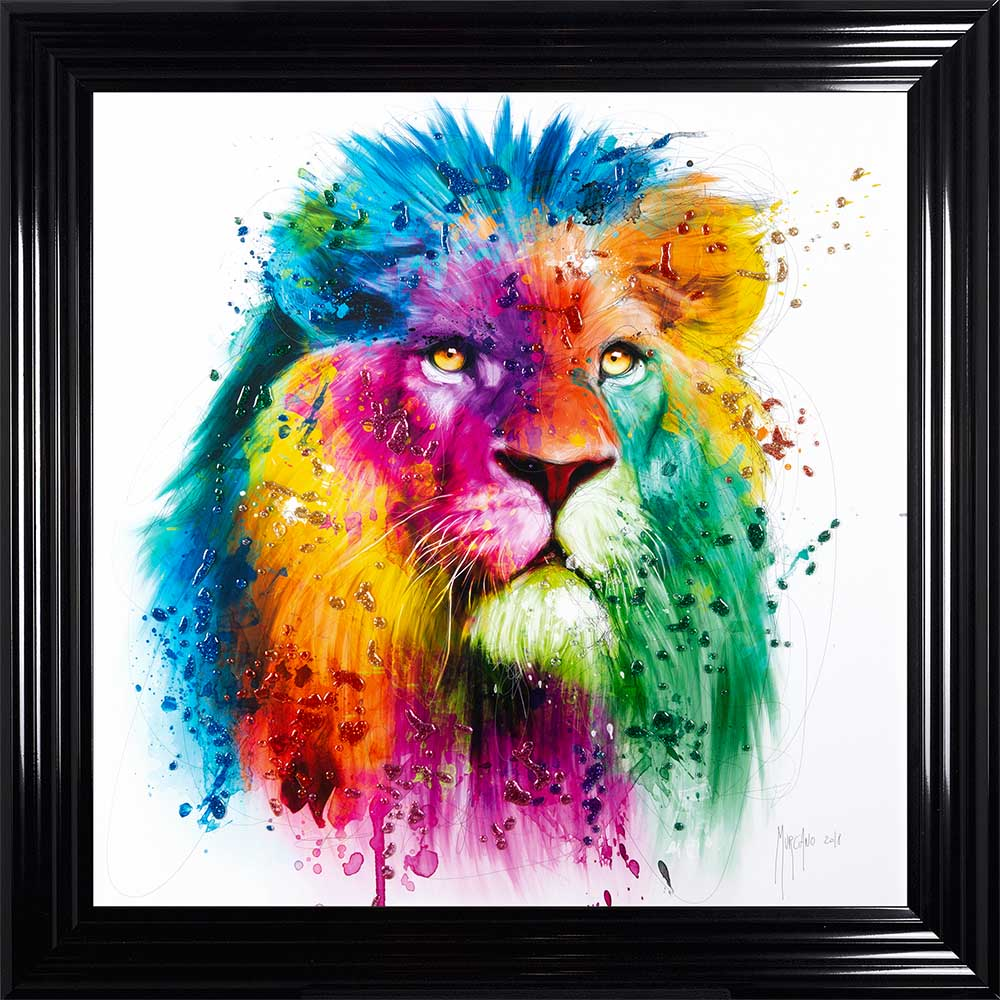 Lion by Patrice Murciano (Black 85 Frame)