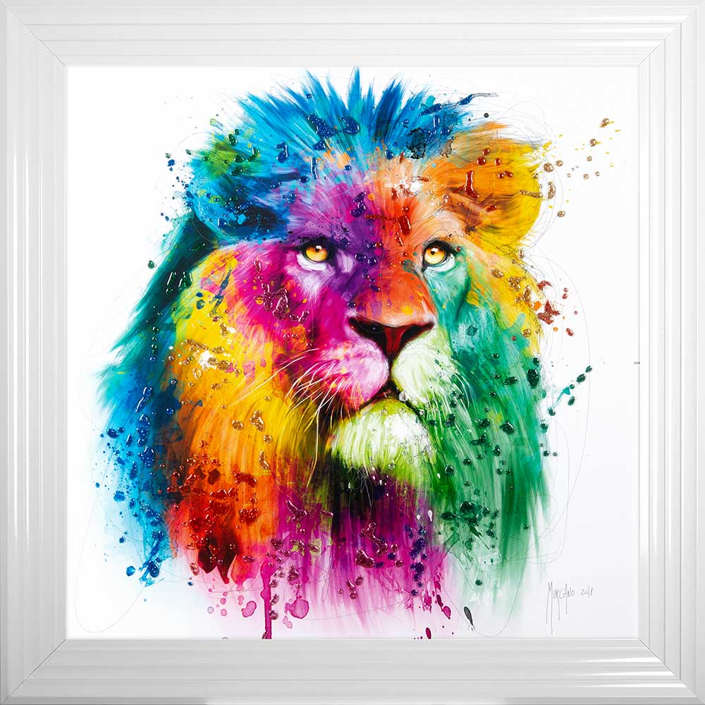 Lion - Pride - Patrice Murciano - Colour - White Frame