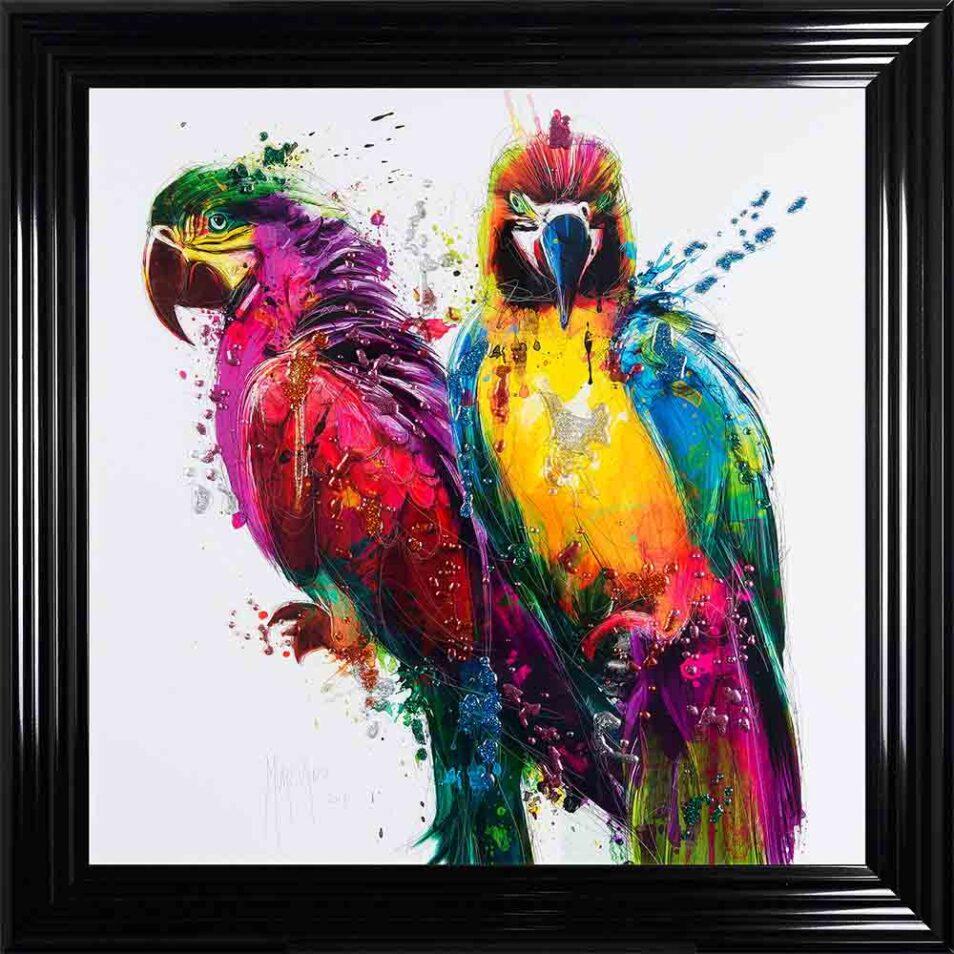 Parrots - Colourful Birds - Patrice Murciano - Black Frame