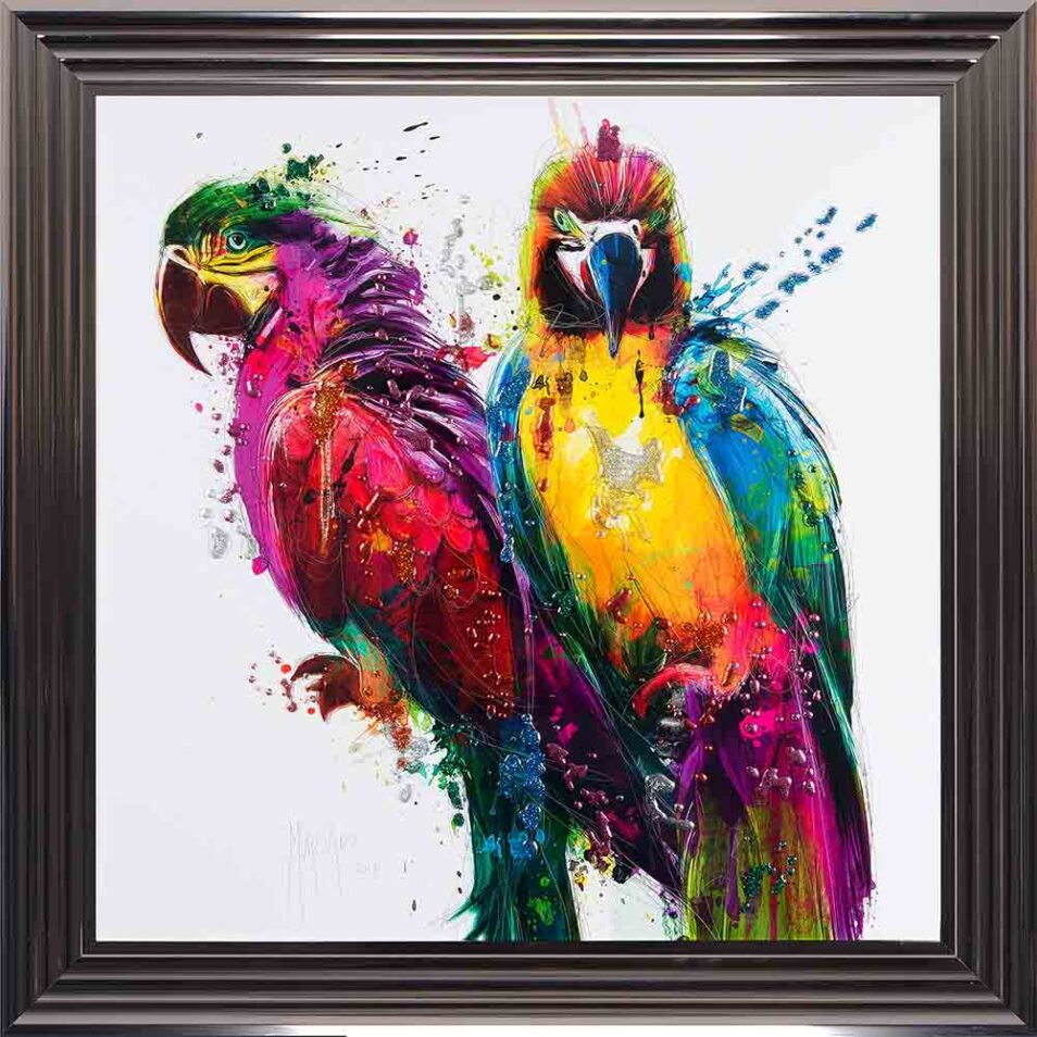 Parrots - Colourful Birds - Patrice Murciano - Metallic Frame